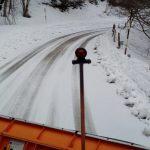 Mezzi spazzaneve in azione sulla strada provinciale Caronia-Capizzi