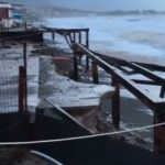 Maltempo nel messinese: Lidi danneggiati a S.Agata Militello, tempesta alle Eolie