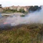S.Agata Militello: I Vigili del Fuoco spengono incendio vicino l'ITIS. – LE FOTO