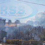 S.Agata Militello: Incendio nei pressi della circonvallazione – LE FOTO-