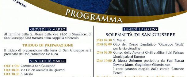 S.Agata Militello: Festa di San Giuseppe, ecco il programma.